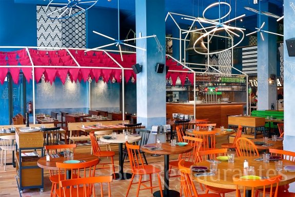 Restaurante bellavista del jard n del norte barcelona for El bellavista del jardin del norte